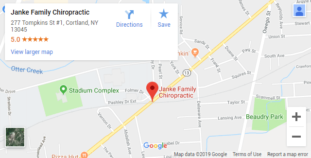 Cortland NY Chiropractic Map
